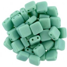 Tile CzechMates 5 mm Turquoaise Green