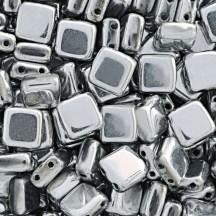 Tile CzechMates 6mm S00030 Silver
