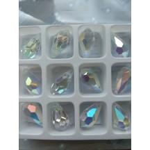 Preciosa Drop 13mm Crystal AB