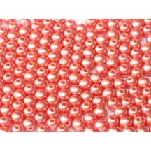 Margele Rotunde 4mm 25007 Pastel Lt Coral