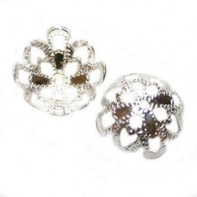 Capacel floare 13mm placat cu argint