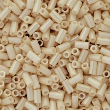 Toho bugle 3mm 123 Opaque Lustered Lt Beige