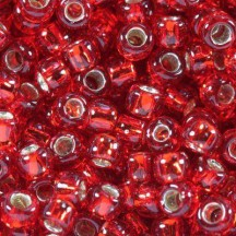 Margele Toho 8/0  25C Silver Lined Ruby