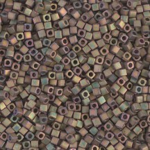 Miyuki Cube 1.8mm 2035 Matte Metallic Khaki Iris