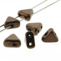 Margele Kheops Par Puca 6x6mm 23980/14415 Dark Bronze