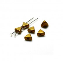 Margele Kheops Par Puca 6x6mm 00030/01740 Bronze Gold Mat