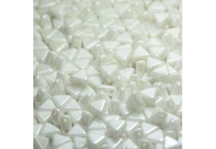 Margele Kheops Par Puca 6x6mm 03000/14400 Opaque White Ceramic Look