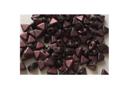 Margele Kheops Par Puca 6x6mm 23980/94108 Metallic Mat Dark Violet