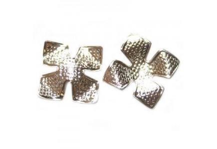 Capacele floare 14mm placate cu argint