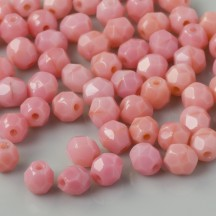 Margele Cehesti Fire-Polish 4mm 73030 Carnation Pink