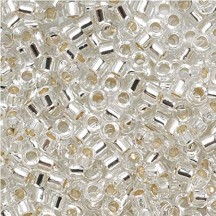 Delica 8/0 0041 Silver Lined Crystal