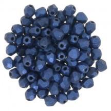 Margele Cehesti Fire-Polish 4mm 79031MJT Metallic Suede Blue