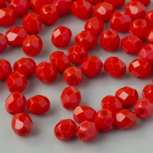 Margele Cehesti Fire-Polish 6mm 93200 Opaque Red