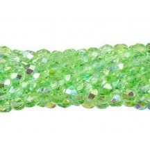 Margele Cehesti Fire-Polish Peridot AB 6mm X50520