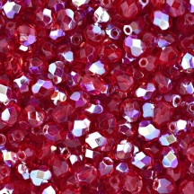 Margele Cehesti Fire-Polish 6mm X90090 Siam Ruby AB