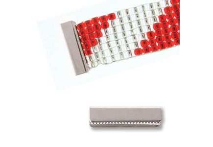 Terminatie fara bucla 19x5mm argintie