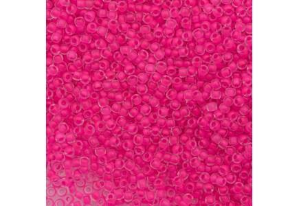 Margele Toho 8/0 0971 Inside Color Matte Crystal/Neon Pink Line