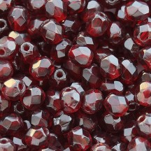 Margele Cehesti Fire-Polish 3mm 90110 Garnet