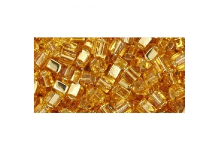 Toho Triangle 11/0 22 Silver Lined Medium Topaz