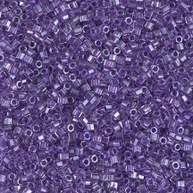 Delica 10/0 DB0906 Sparkling Purple Lined Crystal