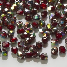 Margele Cehesti Fire-Polish 3mm V90110 Vitral Garnet