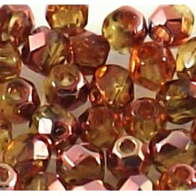 Margele Cehesti Fire-Polish 6mm C10060 Cooper Medium Topaz