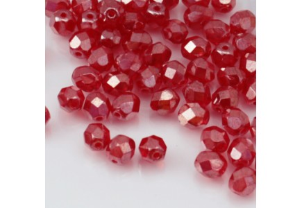Margele Cehesti Fire-Polish 6mm L90080 Luster Siam Ruby