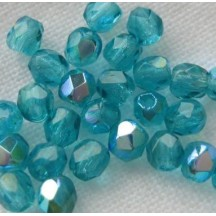 Margele Cehesti Fire-Polish 3 mm X60130 Opaque Teal AB