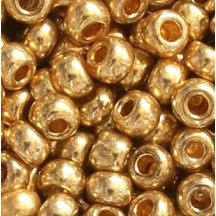 Margele de nisip Preciosa Ornela 6/0 19001/18304 Galvanized Gold