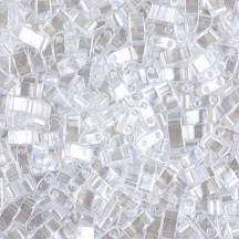 Miyuki Half Tila HTL0160 Crystal Lustered