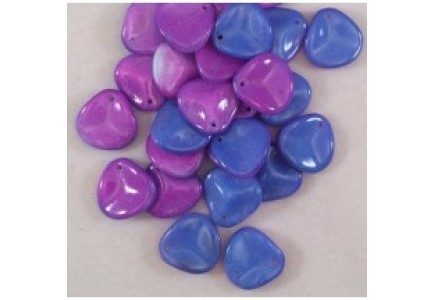 Margele Rose Petals 8x7mm 03000/95101 Chalk White Funky Blue