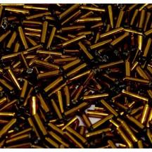 Miyuki Bugle 6mm 0005 Dk Topaz Silver Lined