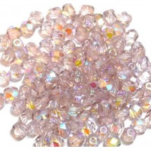 Margele Cehesti Fire-Polish 4mm X20020 Lt Amethyst AB