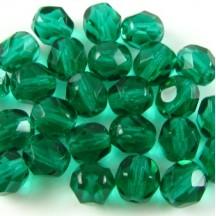 Margele Cehesti Fire-Polish 4mm 50740 Dark Emerald