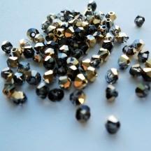 Preciosa 3 mm Crystal Aurum Half
