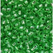 Margele de nisip Preciosa Ornela 10/0 19001/08256 Silver Lined Green