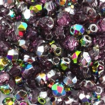 Margele Cehesti Fire-Polish 4mm V20060 Amethyst Vitral