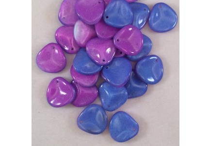 Margele Rose Petals 14x13mm Funky Blue 03000/95101