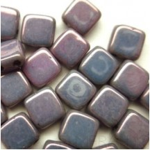 Tile CzechMates 6mm LE02010 Luster Metallic Amethyst