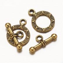 Inchizatoare toggle 19mm auriu antic