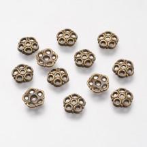 Capacel bronz antic 8x2mm