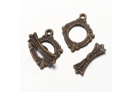 Inchizatoare bronz antic toggle 18.5x15x1mm