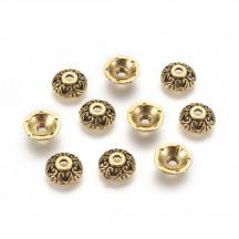 Capacel 10mm auriu antic
