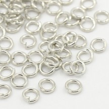 Zale argintii 5x1mm inox