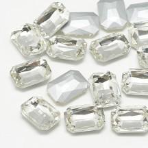 Rivoli sticla 14x10x4mm crystal dreptunghiular