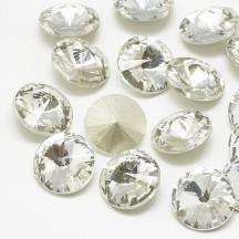 Rivoli sticla 14x7mm crystal