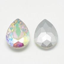 Rivoli sticla 18x13x5mm crystal ab lacrima