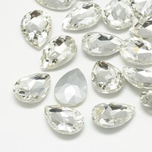 Rivoli sticla 18x13x5mm crystal