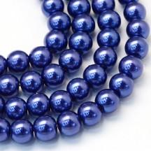 Perle sticla 3mm dark blue