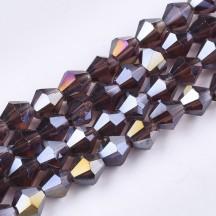 Margele biconice 6x5mm purple ab